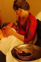 Lotus birth breastfeeding