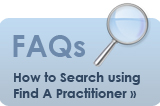 FAQ for Find a Practitioner search