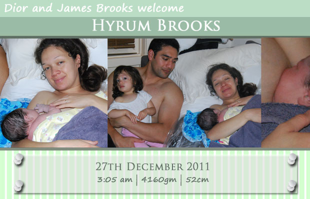 Welcome baby Hyrum - birth announcement