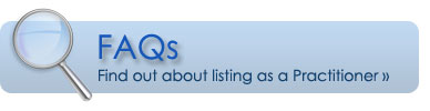 FAQ for Practitioners listing services in Find a Practitioner search