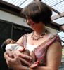 Jane Palmer with baby