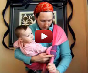 How to tie a slip knot in a Rebozo